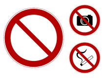 Interdiction des signes Photo stock