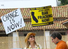 Interdiction Fracking maintenant Image libre de droits