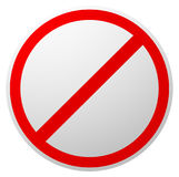 Interdiction, restriction, interdite, aucun signe enty CERCLE ROUGE illustration stock