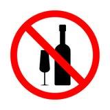 Interdiction sur le signe d'alcool Image stock