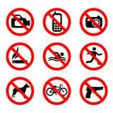 Interdisez le vecteur de signe illustration de vecteur