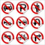 Interdisez les signes Photo libre de droits
