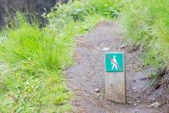 Interdit pour marcher ici - l'Islande Photographie stock