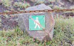 Interdit pour marcher ici - l'Islande Images libres de droits