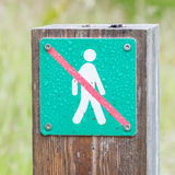 Interdit pour marcher ici - l'Islande Image libre de droits