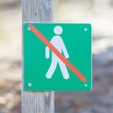 Interdit pour marcher ici - l'Islande Photographie stock libre de droits