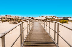 Interdune Boardwalk - White Sands National Monument - New Mexico Stock Photos