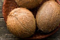 Intere noci di cocco Immagini Stock