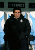 Interenazionale's coach assist Luis Figo Royalty Free Stock Photo