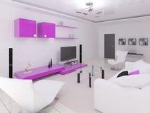 Interer czynnościowy żywy pokój royalty ilustracja