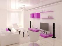 Interer czynnościowy żywy pokój ilustracji