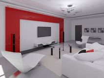 Interer functional living room. Stock Photo