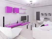 Interer functional living room . Royalty Free Stock Photos
