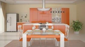 Interer moderno da cozinha Ilustração do Vetor