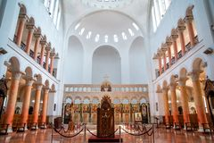Interer of Poti Soboro Cathedral. It is a Georgian Orthodox church in downtown Poti, Georgia. Religion royalty free stock photos