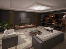 Interer wygodny żywy pokój ilustracji