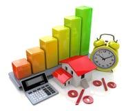 Interes na majątkowych pożyczkach ilustracja wektor