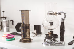 Interessant materiaal om koffie te maken Royalty-vrije Stock Afbeeldingen