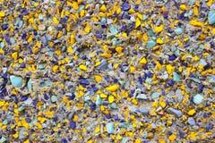Interessant mozaïek in grijze, blauwe en gele tonen r royalty-vrije stock afbeelding