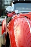 Interessant ontwerp van oude auto met originele koplamp en bumper Royalty-vrije Stock Foto