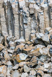 Interessant zuilvormig basalt Royalty-vrije Stock Foto's