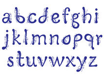 Interessante brieven van het alfabet met bloemenpatroon Royalty-vrije Stock Fotografie
