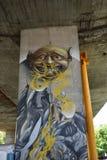 Interessante die graffiti door ventilators van de voetbalclub van Legia Warshau wordt gecreeerd royalty-vrije stock afbeeldingen