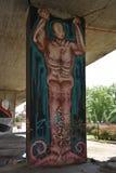 Interessante die graffiti door ventilators van de voetbalclub van Legia Warshau wordt gecreeerd stock fotografie