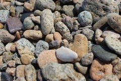 Interessante die stenen door het overzees worden geschoten Stock Afbeelding