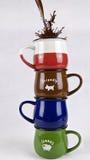 Interessante Kaffeetasse stockfotos