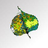 Interessante textuur van bladeren op de achtergrond, textuur van bladeren Royalty-vrije Stock Afbeeldingen