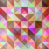 Interessante textuur van gekleurde driehoeken Stock Afbeeldingen