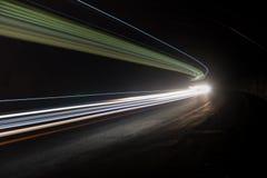Interessante und abstrakte Lichter im Grün, im Gelb und im Weiß Lizenzfreie Stockfotos