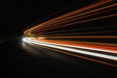 Interessante und abstrakte Lichter in Orange, in Rotem, in Gelbem und in weißem stockbilder