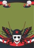 Interessanter Aufbau auf dem Militärthema lizenzfreie abbildung
