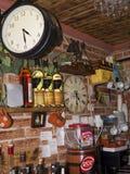 Interessantes Café im Alfama-Bezirk von Lissabon Portugal Stockfotos