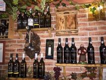 Interessantes Café im Alfama-Bezirk von Lissabon Portugal Stockbild
