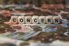 INTERESSE - Bild mit den Wörtern verbunden mit dem Thema MONOPOL, Wortwolke, Würfel, Buchstabe, Bild, Illustration Lizenzfreie Stockfotos
