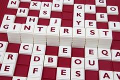 Interesse nas letras Foto de Stock