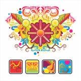 Interesse o ícone e a composição do sol Imagens de Stock Royalty Free