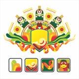 Interesse o ícone e a composição dos coelhos Imagem de Stock