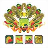 Interesse o ícone e a composição do crânio animal Imagens de Stock