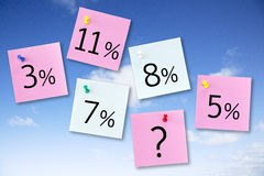 Interesse Rate Concept Lizenzfreie Stockfotos