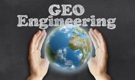 Interessieren für die Erde mit Geo-Technik lizenzfreie abbildung