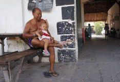 Interessieren für Enkelkinder Lizenzfreies Stockbild