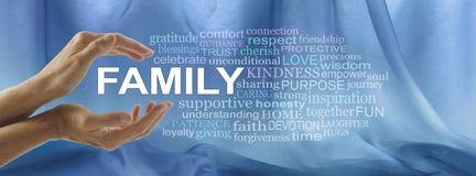 Interessieren für Familien-Wort-Umbau-Wolke stockfotos