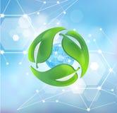 Interessieren f?r die Umgebung Symbol f?r umweltfreundliches stock abbildung