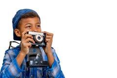 Interessierter Fotograf Stockbilder