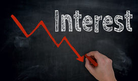 Free Interest And Graph Is Written By Hand On Blackboard Royalty Free Stock Photo - 98385135