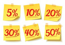 Interest Discounts. Sale On The Sticker Stock Photography